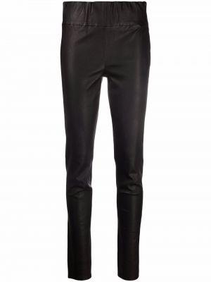 Кожаные брюки - черные Arma