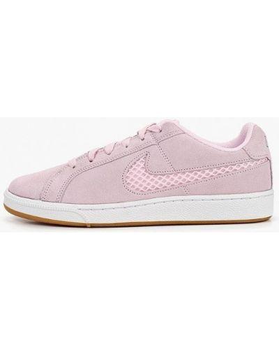 Розовые кеды замшевые Nike