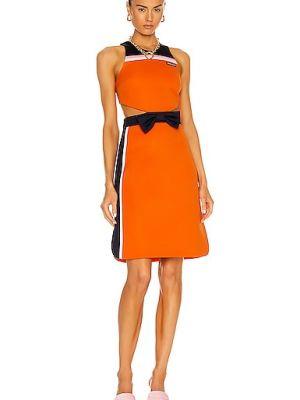 Оранжевое трикотажное платье с подкладкой Miu Miu