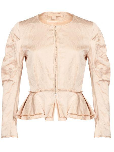 Бежевый пиджак из вискозы Brock Collection