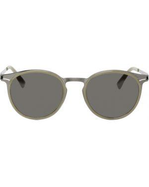 Okulary przeciwsłoneczne zielony srebro Mykita