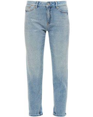 Укороченные джинсы со стразами синие Karl Lagerfeld