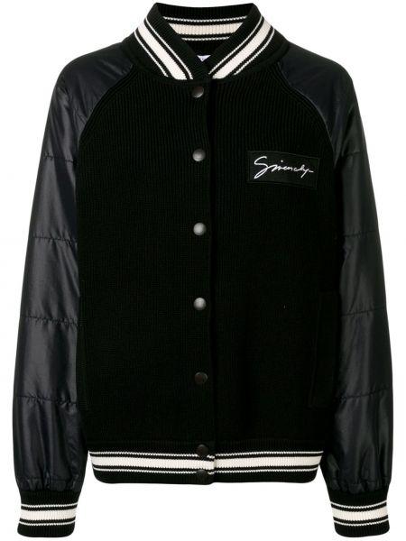 Długa kurtka francuski z łatami Givenchy