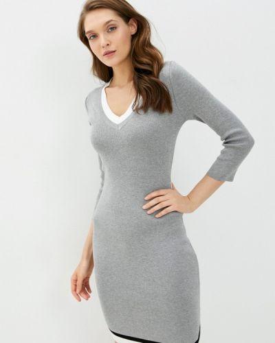 Вязаное серое платье Grafinia