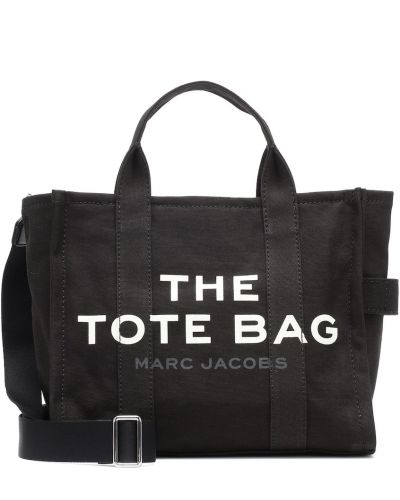 Bawełna bawełna czarny torba toaletowa Marc Jacobs