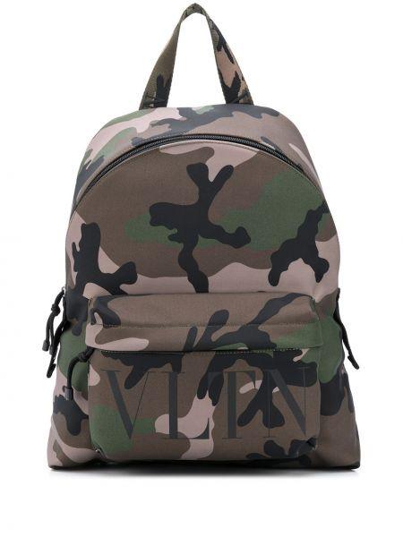 С ремешком зеленый нейлоновый рюкзак Valentino
