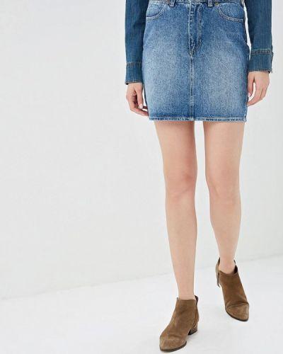 Джинсовая юбка весенняя синяя Wrangler