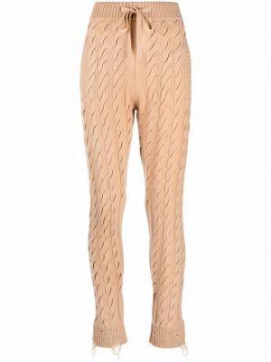 Шерстяные брюки - коричневые Laneus