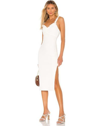 Платье миди в полоску - белое Privacy Please