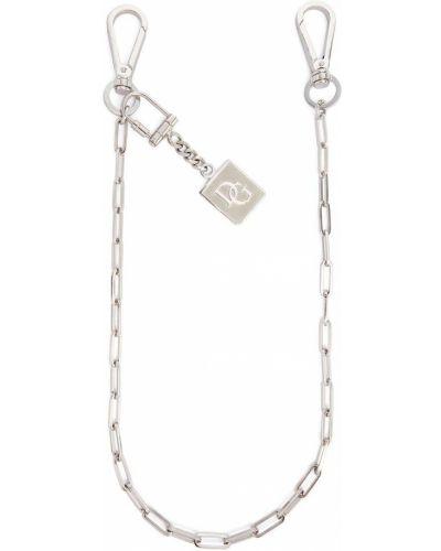 Серебряный брелок с декоративной отделкой Dolce & Gabbana