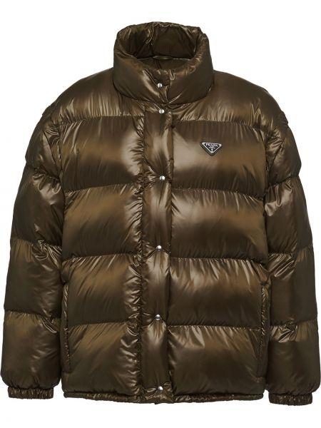 Дутая куртка - зеленая Prada