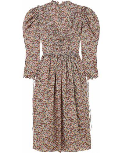 Sukienka midi bawełniana Horror Vacui