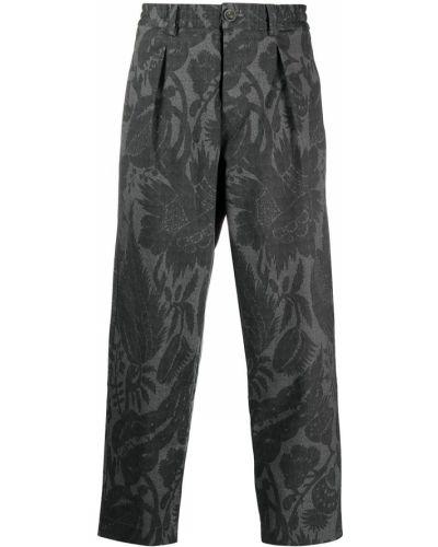 С завышенной талией серые брюки эластичные Pierre-louis Mascia