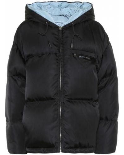 Плюшевая куртка - черная Prada