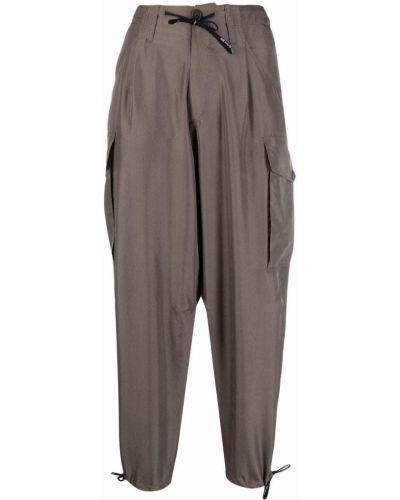 Серые укороченные брюки карго с принтом Alberto Biani