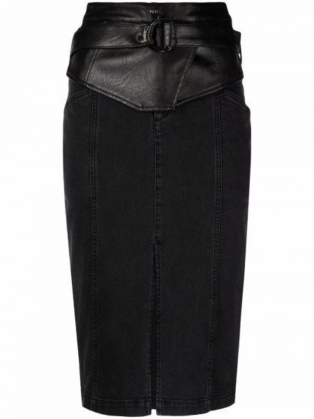 Spódnica jeansowa - czarna Pinko