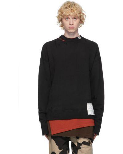 Czarny pulower z długimi rękawami bawełniany Miharayasuhiro