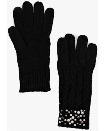 Черные перчатки текстильные Keddo