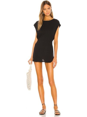 Черное платье из штапеля с американской проймой Vitamin A