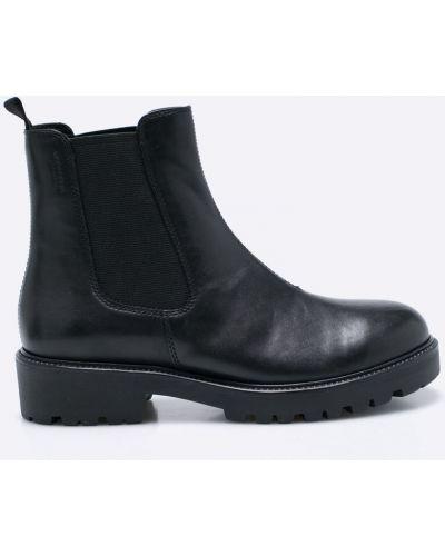 Ботинки на каблуке черные Vagabond