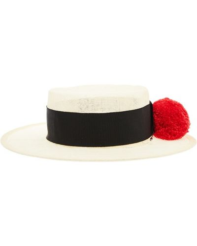 Бежевая шляпа с помпоном Ruslan Baginskiy
