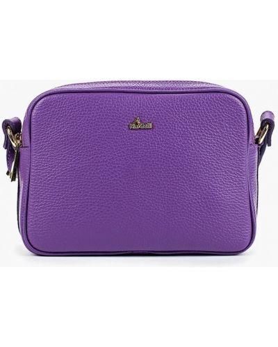 Кожаная сумка через плечо фиолетовый Nardelli