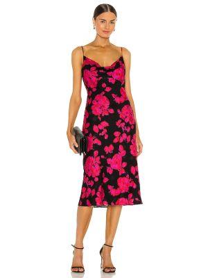 Шелковое черное вечернее платье с подкладкой Milly