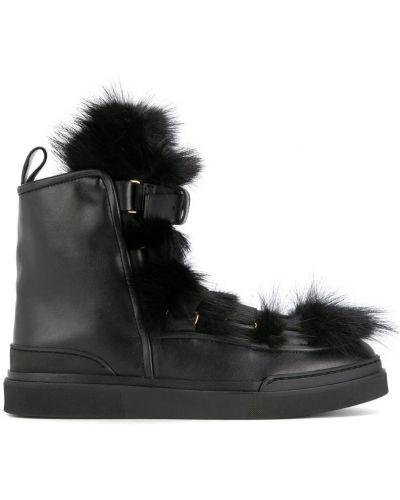 Ботинки на платформе кожаные Balmain