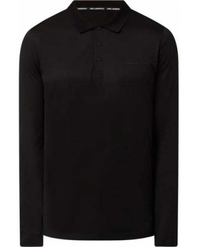 Czarna koszulka z długimi rękawami Karl Lagerfeld