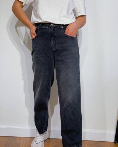 Джинсовые широкие джинсы - черные Rozetka