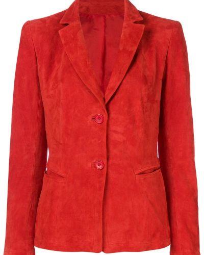Красный пиджак замшевый Sylvie Schimmel