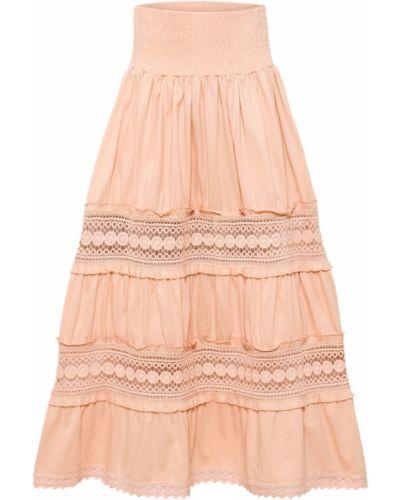 Розовая юбка макси Bonprix