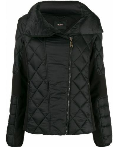 Длинная куртка черная стеганая Twin-set