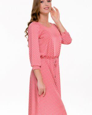 Летнее платье в горошек с поясом Nikol