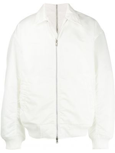 Нейлоновая белая куртка с манжетами Wwwm