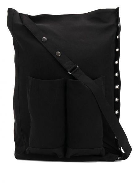 Z paskiem czarny duży torba z łatami przeoczenie Discord Yohji Yamamoto