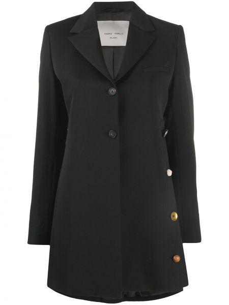 Шерстяной черный пиджак с карманами Frankie Morello