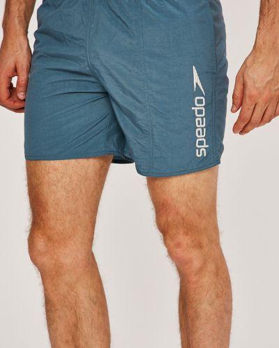 Плавки с карманами синие Speedo