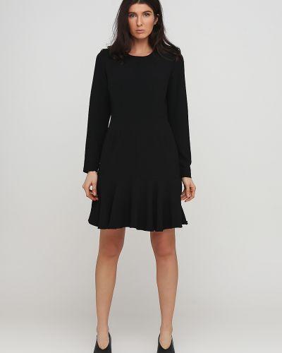 Черное платье макси с круглым вырезом Kookai