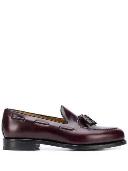 Кожаные фиолетовые туфли с кисточками на плоской подошве Berwick Shoes
