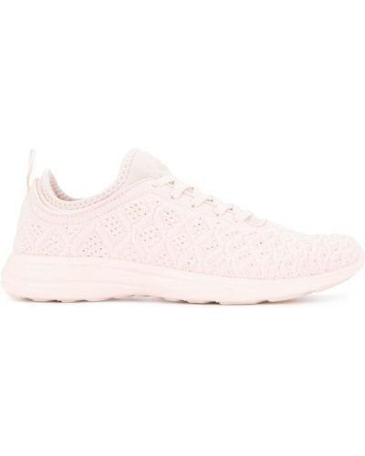 Кроссовки бежевые розовый Apl