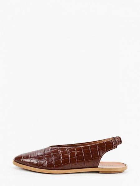 Кожаные туфли с открытой пяткой коричневый Jonak
