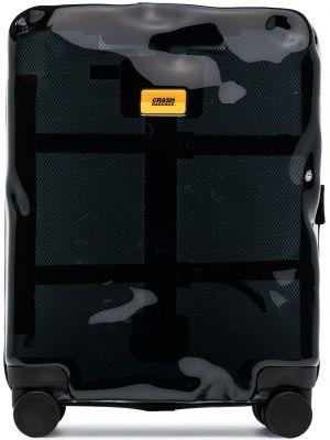 Чемодан прозрачный - черный Crash Baggage