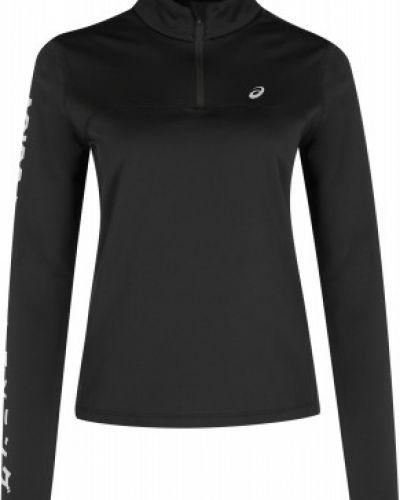 Флисовая приталенная черная футболка для бега Asics