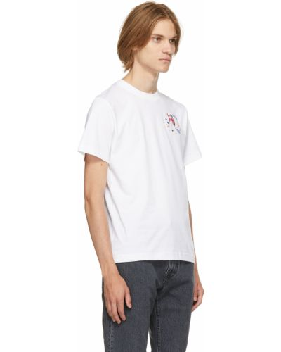 Biała t-shirt z haftem Carne Bollente
