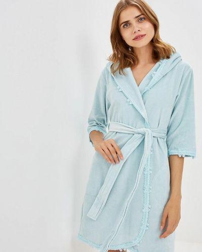 Голубой халат домашний Nusa