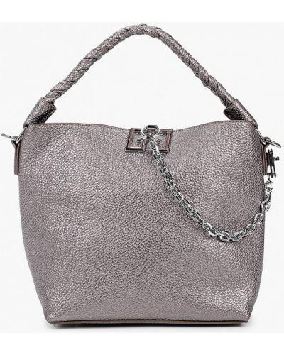 Кожаная серая сумка Elsi