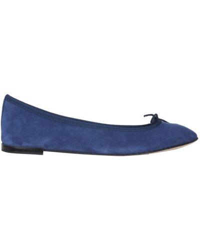Niebieskie balerinki Repetto