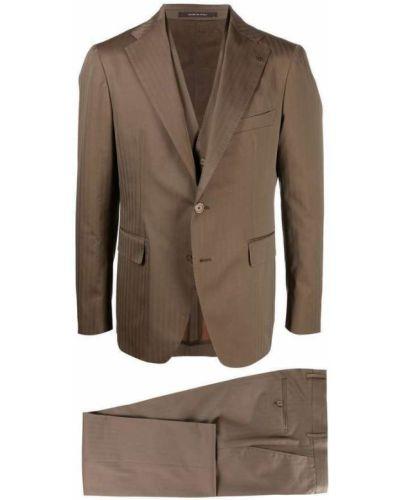 Brązowy garnitur Tagliatore