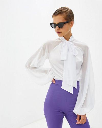 Блузка с бантом белая Gepur